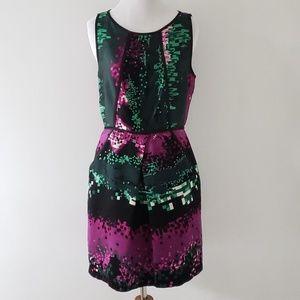 Laundry party dress silk jewel tone sleeveless 6